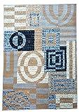 Gloria Star Collection Contemporary 100% Polypropylene Area Rug (5′ x 7′, 2318 GREY) For Sale