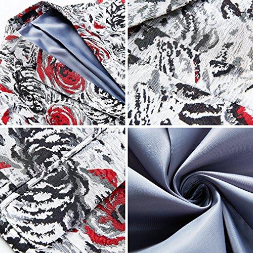 Diseño Abrigos Ajuste Flores Elegante De Blazer Hombre Delgado Lujo q4EPI