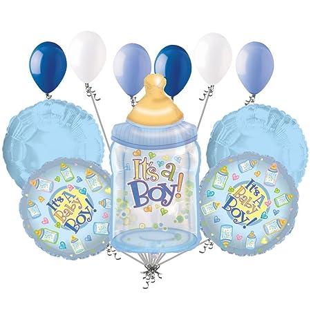 Amazon Com 11 Pc It S A Boy Bottle Balloon Bouquet Decoration Baby
