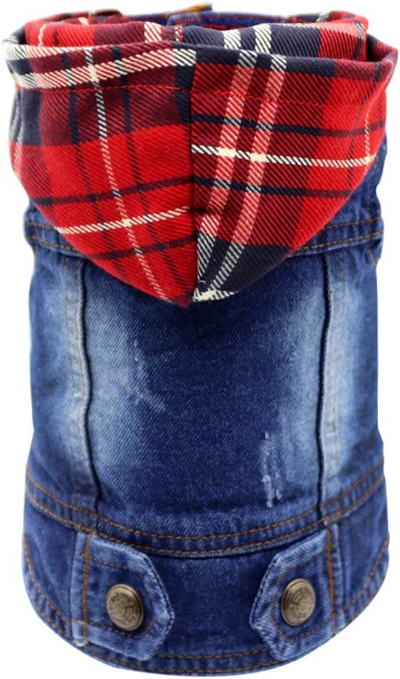 SILD Pet Clothes Dog Jeans Jacket Cool Blue Denim Coat