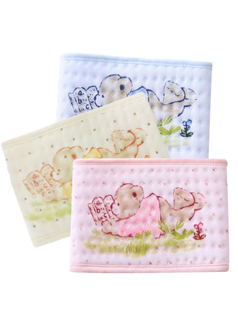 Fairy Baby Cotton Infant Umbilical Cord Baby hernia Belly Belt 3PCS,Waist 40-48cm/15.7-18.9in Funny Bear