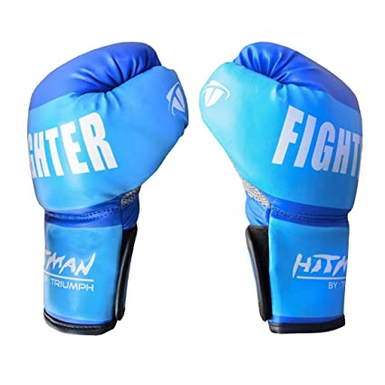 Buy Hitman Gb04579 Synthetic Leather Fighter Boxing Gloves Small Blue Online At Low Prices In India Amazon In