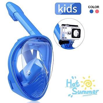 IMMEK Máscara de Buceo,Máscara de Buceo para Niños,180 ° Máscara
