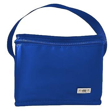 Lancheira Termica Pequena Menino Infantil Escolar Básica Azul CK Presentes 09bb4fbef4a47