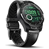 TicWatch Pro 2020 Fitness Smartwatch with 1GB RAM, built in GPS Layered Display Long Battery Life, NFC, 24H Heart Rate, Sleep Tracking, Music, IP68 Waterproof, Wear OS by Google with Android/iOS Black