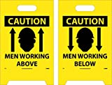"""NMC FS6 Double Sided Floor Sign, """"CAUTION MEN"""