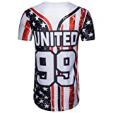 Hunzed Men's Shirt, Summer { American Flag Print