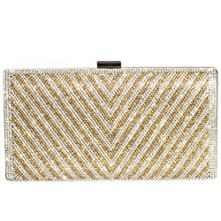 Rectangle Shape Crystal Clutch