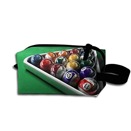 Amazoncom Colby Keats Cosmetic Makeup Bag Billiards Table Tennis - Travel pool table