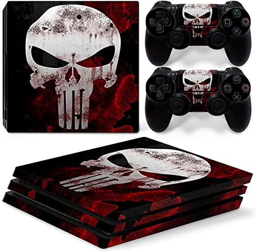 Skull Design Vinyl Decal Sticker Para La Consola PS4 Pro + 2 ...