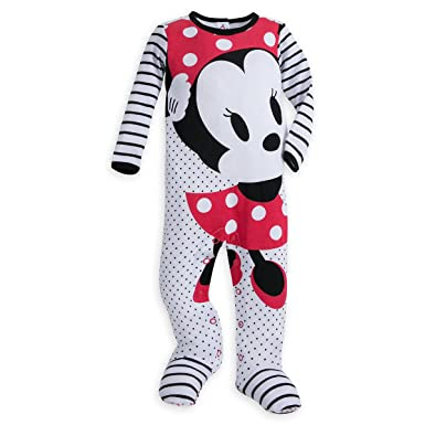 dcac46678c Amazon.com  Disney Minnie Mouse Stretchie Sleeper for Baby White12 ...