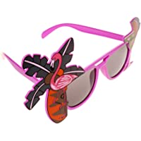 MagiDeal Toys Costumes Sunglasses Tropical Hawaiian Cocktail Flamenco Fancy Dress Pink
