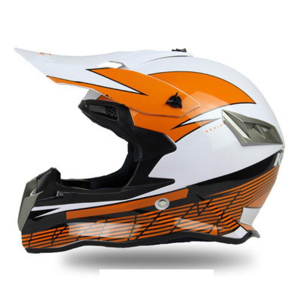 AEMAX, Casco Todoterreno, Motocicleta, Casco De Esquí De Fondo, KTM, Casco De Moto, Casco De Motocross, Bicicleta ATV, S-2XL,B-S=55-56cm: Amazon.es: Hogar
