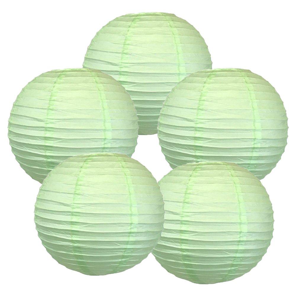 Just Artifacts ペーパーランタン5点セット(6インチ24インチ) 20inch AMZ-RPL5-200035 B01CEX8IA4 20inch|ミントグリーン ミントグリーン 20inch