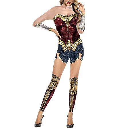 QQWE Mujer Maravilla Cosplay Traje Liga de la Justicia ...