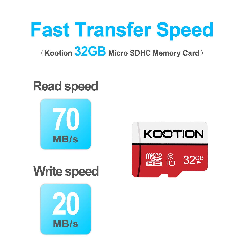 KOOTION 32 GB Micro SD Card Ultra Micro SDHC Memory UHS-I Card Class 10 High Speed TF Card R Flash, C10, U1, 32 GB (2 Pack)