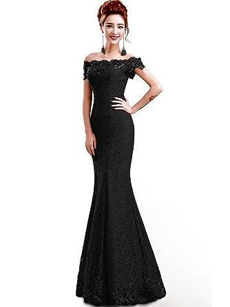 1fb98f18 Amazon.com: MisShow Sexy Off Shoulder Mermaid Lace Prom Dresses ...