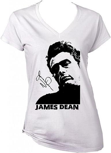 teesquare1st James Dean American Actor 2 Camiseta Blanca para ...