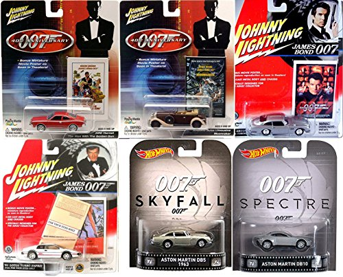 Lotus Esprit Turbo (Hot Wheels James Bond Aston Martin DB5 007 Spectre DB10 Skyfall & Johnny Lightning Cars - Moonraker Limo / Tomorrow Never Dies / Man with the golden gun Hornet / Lotus Turbo Esprit For your eyes only)