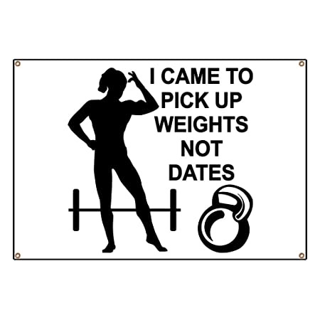 22be640a4 CafePress Weights Not Dates - Vinyl Banner, 44
