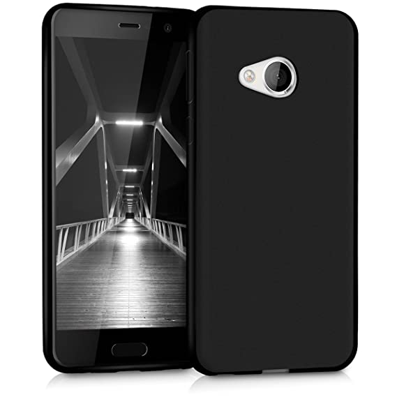 sale retailer 12119 3f9ac kwmobile TPU Silicone Case for HTC U Play - Soft Flexible Shock Absorbent  Protective Phone Cover - Black Matte