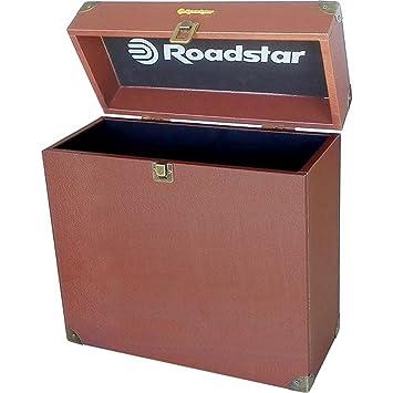 Roadstar BOX-TT1 funda para equipo de audio - fundas para equipos de audio (Estuche Duro, Registros, Marrón, Universal, Monótono, Negro)