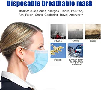 10pieces Disposable Safety Face Shield High-Transmitting Pet Film Anti-Fog Built-In Soft Cushions Large Protective Area Transparent Comfort Sponge Safety Face Shield Facial Cover for Women Men Children (50pcs mouth)