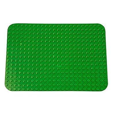 Strictly Briks Base para Construir - Compatible con Todas Las Grandes Marcas - Tacos Grandes - 38,1 x 26,67 cm - Verde Oscuro: Juguetes y juegos