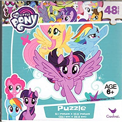 My Little Pony Bundle of 3 48 Pieces in a Really Cool Cube Shaped Box. Great Starter Puzzles for Young Girls Ages 6+ 10.3 Inch X 9.1 Inch Puzzle.: Toys & Games