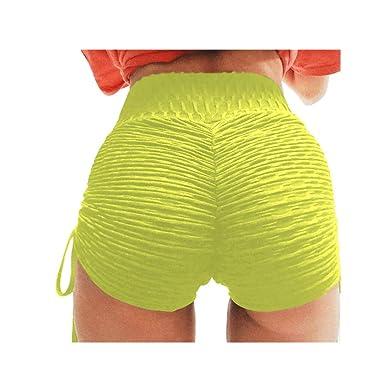 Damen High Waist Sportshorts Hotpant Kurze Hosen Jogging Gym Fitness Laufhose