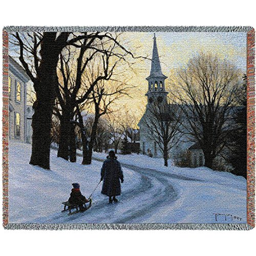 Winters Eve Tapestry (Pure Country Winters Eve Blanket Tapestry Throw)