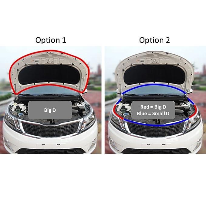 Car Door Wind Noise Seal D Shape Rubber Strip Molding 13Ft for ALFA ROMEO Car