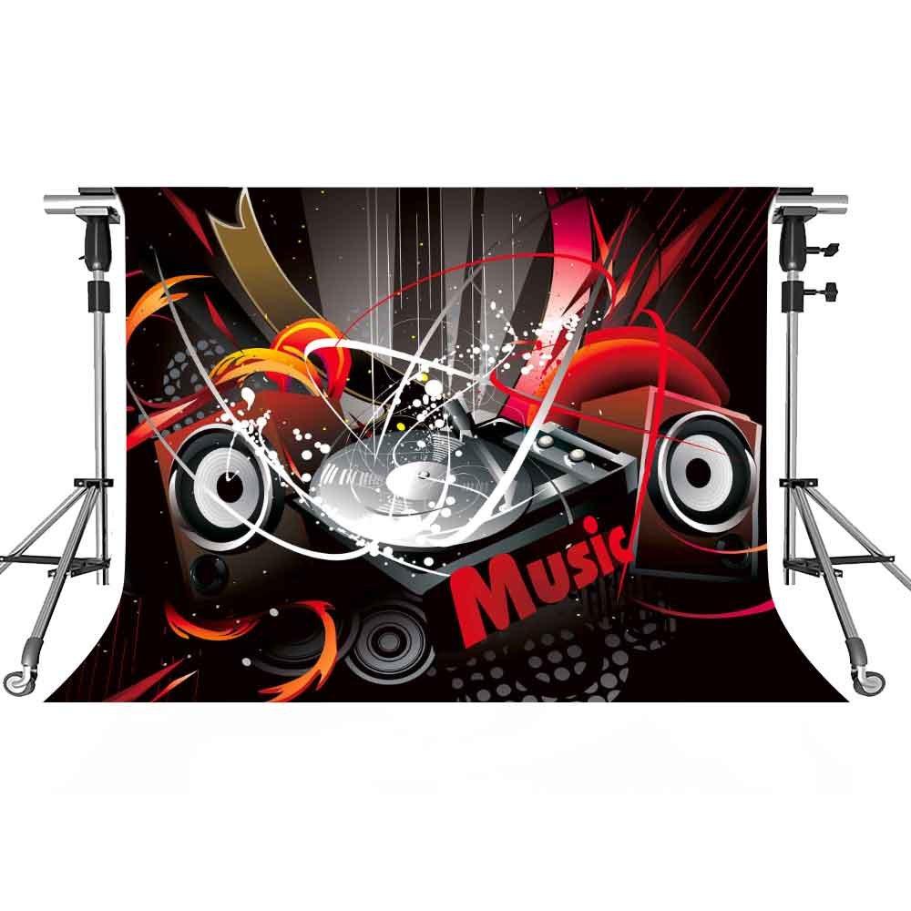 音楽ステージバックドロップColoredライト写真背景meetsioy 7 x 5ftテーマパーティー写真ブースYoutube Backdrop pmt392   B07FTCKWWG