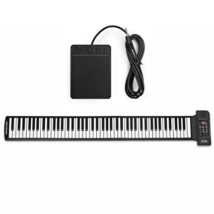 b51bb0c059f Flexzion Portable Roll Up Piano - Digital Electronic Keyboard with 88 Keys  Soft Silicone Flexible Foldable