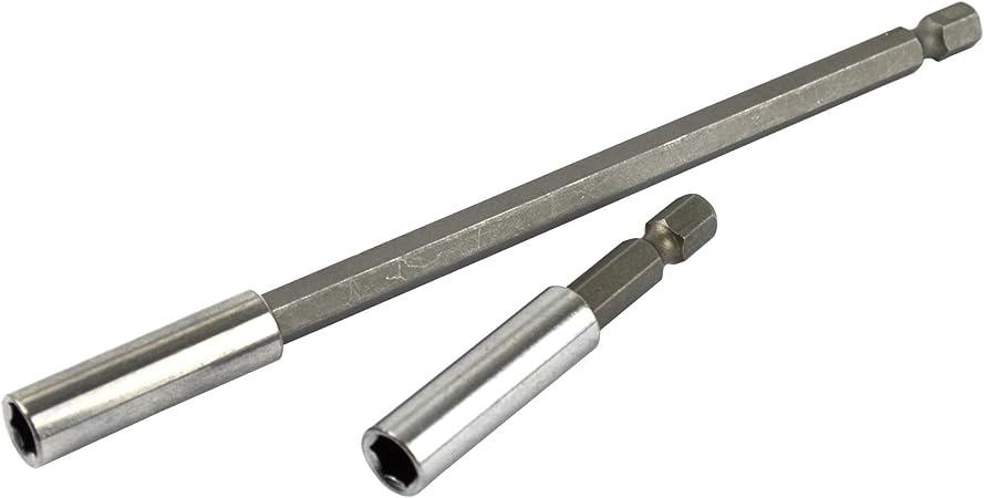 Lot de 2 tournevis porte embout magnétique à Rallonge adaptateur foret 60 TE627 150 mm