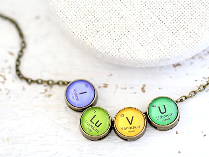 Amazon i love you i love you necklace periodic table i lu i love you i love you necklace periodic table i lu v u urtaz Image collections