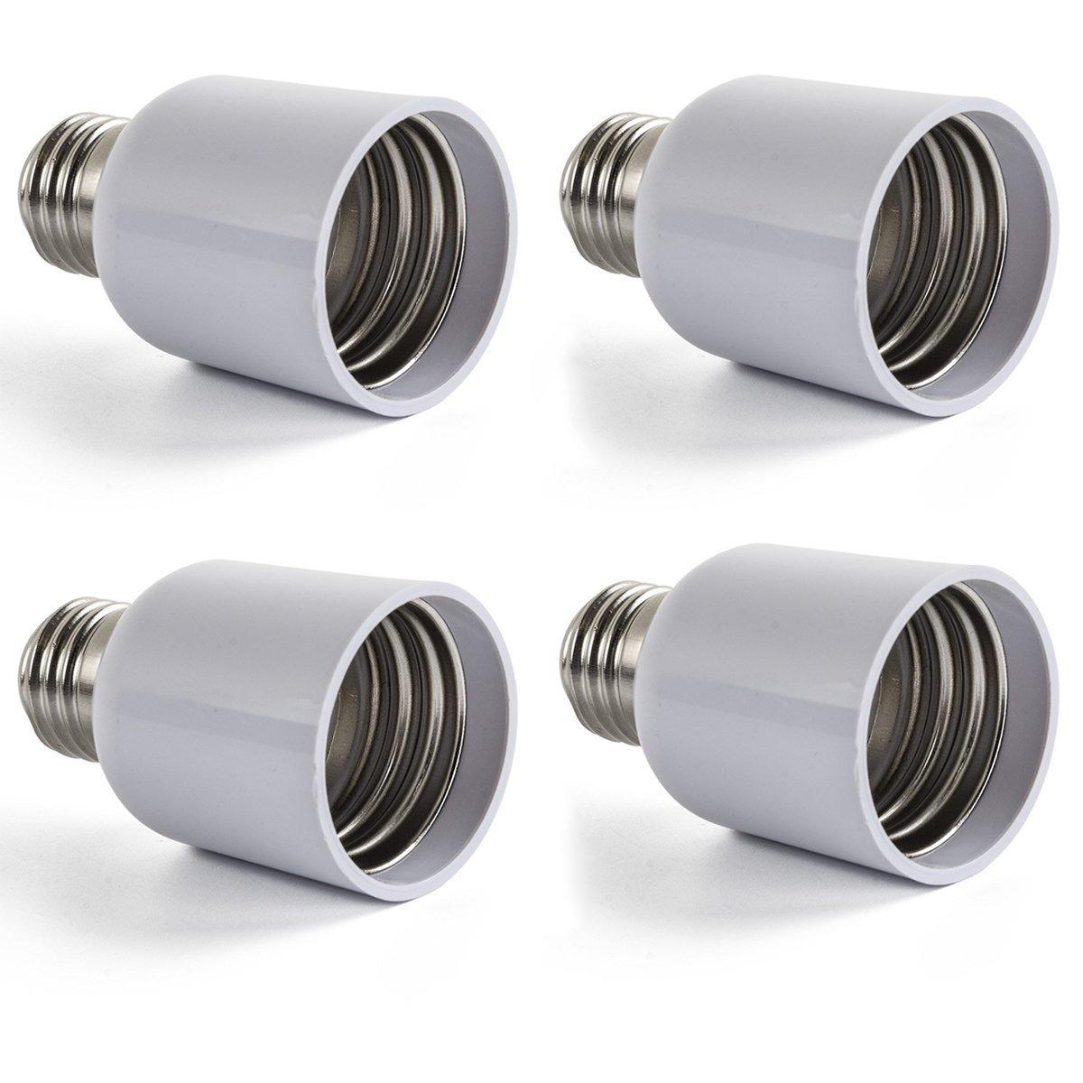 AWE-LIGHT 4X E27 à E40 Adaptateur Convertisseur, Ampoule LED Base Douille E27 vers E40 - Normes CE RoHS E40-E27