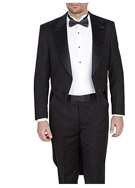 Amazon.com: HSLS Traje de boda para hombre, 2 piezas, color ...