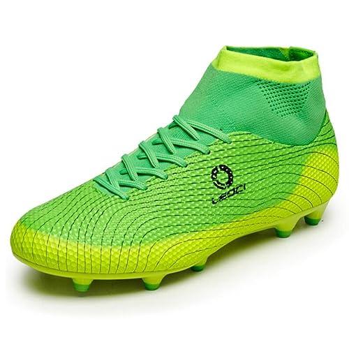 Botas de fútbol para niños Unisex Hombres Zapatos de fútbol para niño Botas  antideslizantes Anti- d548c836817e9