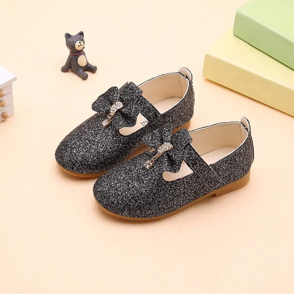 Zapatos para ni/ños ,Infant Kids Baby Girls Colgante Bowknot Cristal Bling Lentejuelas Solos Zapatos de Princesa,Hanomes ❤ Sandalias de Ni/ños Zapatos de Princesa Zapatos de Bebe