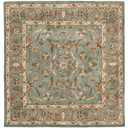 Safavieh Heritage Collection HG969A Handcrafted Traditional Oriental Blue Wool Square Area Rug (8' Square)