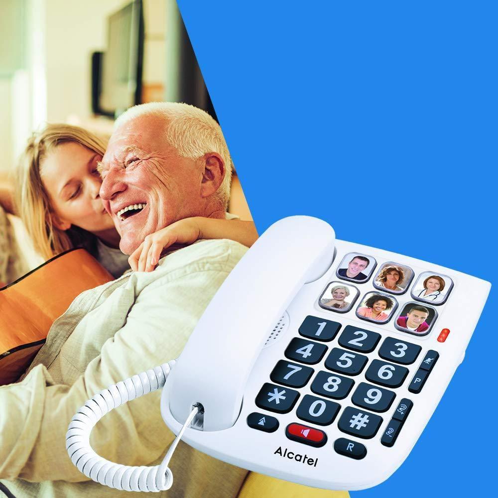 Alcatel Max 10Corded Phone for Seniors White.