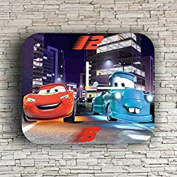 Cars Lightning McQueen 11.8'' Handmade Art Wall Clock - Get unique décor for home or office – Best gift ideas for kids, friends, parents and your soul mates - made of plastic