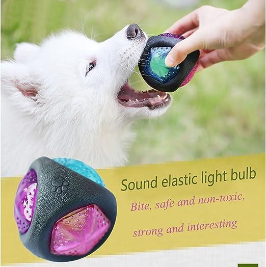 Zerlar Blinkende Bouncing Pet Spielzeug kauen Ball mit Sound
