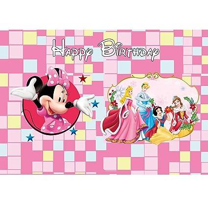Fondo Rosa de Minnie Mouse para Primer cumpleaños 7 x 5 ...