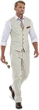 New Light Gray Groomsmen Wedding Suit Vest+Pants Summer Smart 2 Pieces Cool Suit