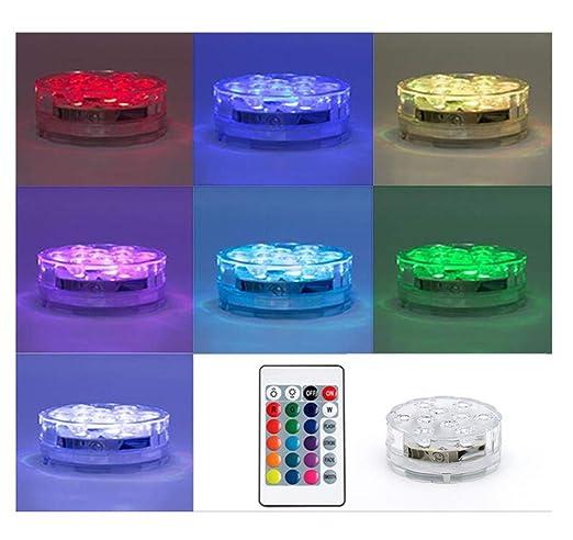FREEL Luces LED sumergibles con Control Remoto/Cojín de luz ...