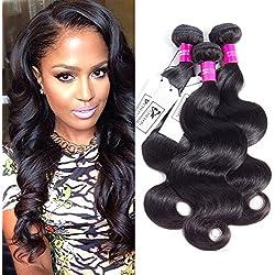 CHEEON Peruvian Virgin Hair Body Wave 10 12 14 Inches 8A Grade Unprocessed Human Hair Bundles Body Wave Virgin Hair 100g/bundle Natural Color
