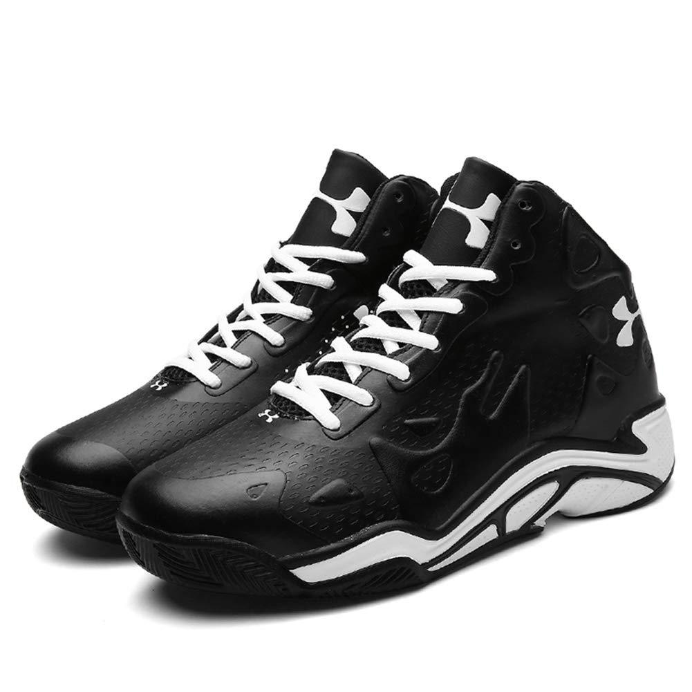 Unbekannt Herrenschuhe, High-Top-Basketball-Schuhe, Frühling Herbst künstliche PU-Turnschuhe, Rutschfeste Laufschuhe, Outdoor-Sport-Turnschuhe