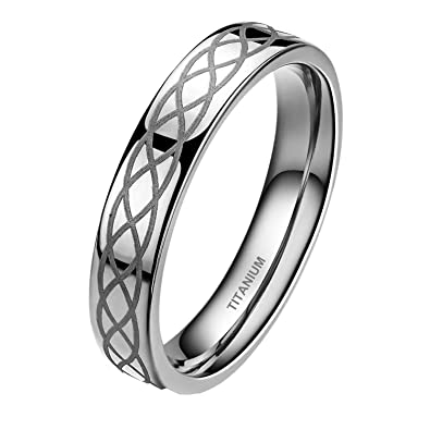 Black And Silver Mens Wedding Band | Women Men 4mm 8mm Titanium Ring Wedding Band Black Silver Middle 2